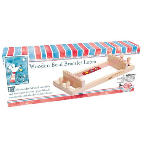 Wooden Bead Bracelet Loom By House Of Marbles - Age 8 Plus